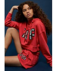 TOPSHOP - Logo Cropped Hoodie By Ivy Park - Lyst
