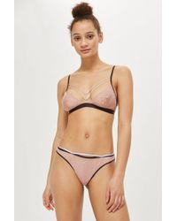 TOPSHOP - Lace Triangle Bra - Lyst