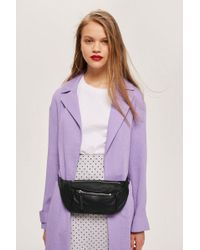 TOPSHOP - Leather Bumbag - Lyst