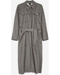 TOPSHOP - Check Coat Dress By Boutique - Lyst