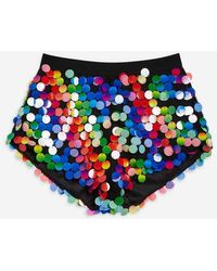Jaded London - rainbow Sequin Hot Trousers By Jaded - Lyst