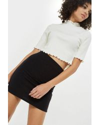 TOPSHOP - Textured Pull On Skirt - Lyst