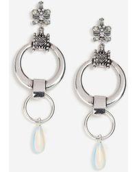 TOPSHOP - Semi-precious Link Drop Earrings - Lyst