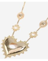 TOPSHOP - Heart And Eye Pendant - Lyst