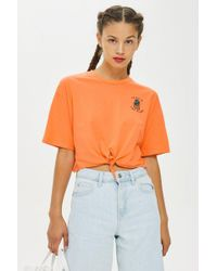 TOPSHOP - Petites 'tropic Like It's Hot' T-shirt - Lyst