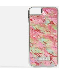 TOPSHOP - Pink Shell Iphone Case By Skinnydip - Lyst