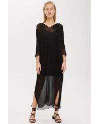 TOPSHOP - Pleated Batwing Dress By Boutique - Lyst