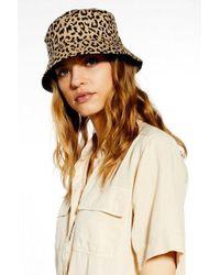 TOPSHOP - Leopard Reversible Bucket Hat - Lyst