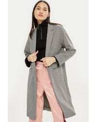 TOPSHOP - Jersey Chuck On Coat - Lyst