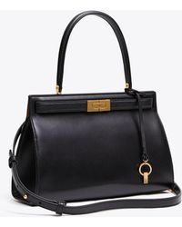 Tory Burch - Lee Radziwill Bag In Black Calfskin - Lyst