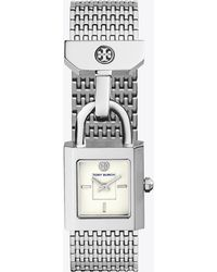 Tory Burch - Surrey Watch, Stainless Steel/ivory, 22 X 24 Mm - Lyst