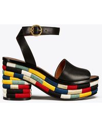 Tory Burch - Camilla Embroidered Sandal - Lyst