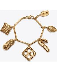 Tory Burch - Snack Charm Bracelet - Lyst