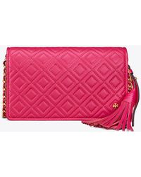 Tory Burch - Fleming Flat Wallet Crossbag - Lyst
