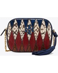 Tory Burch - Mcgraw Pieced-leather Camera Bag - Lyst