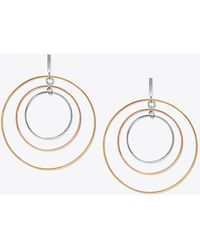 Tory Burch - Wire Hoop Earring - Lyst