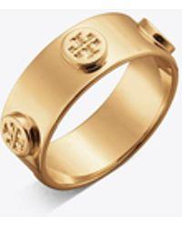 Tory Burch - Logo Stud Ring - Lyst