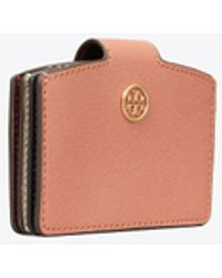 Tory Burch - Robinson Mixed-materials Accordion Card Case - Lyst