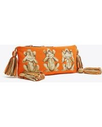 Tory Burch - Monkey See Needlepoint Pouch | 841 | Pouches - Lyst