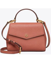 55cfcb9c143 Tory Burch - Robinson Small Top-handle Satchel In Tramonto Calfskin - Lyst