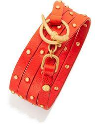 Tory Burch - Studded Multi-wrap Bracelet - Lyst