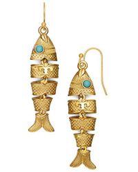 Tory Burch - Delicate Fish Earring - Lyst