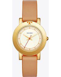Tory Burch - Ellsworth Watch, Luggage Leather/gold-tone, 36mm - Lyst