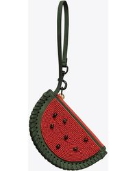 Tory Burch - Watermelon Coin Pouch Key Ring - Lyst