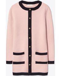 ea800e14d39f Tory Burch Colette Coat in Pink - Lyst