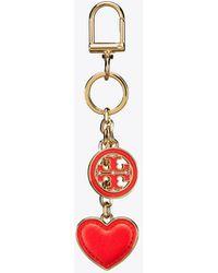 Tory Burch - Logo & Heart Key Ring - Lyst