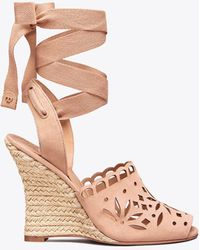 Tory Burch - May Lace-up Wedge - Lyst