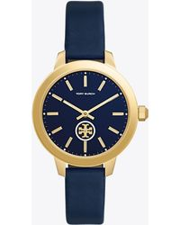 Tory Burch - Gigi Double-wrap Watch, Green Leather/gold-tone, 28 Mm - Lyst