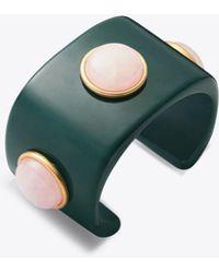 Tory Burch - Studded Stone Cuff - Lyst