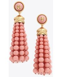 Tory Burch - Beaded Tassel Earring - Lyst