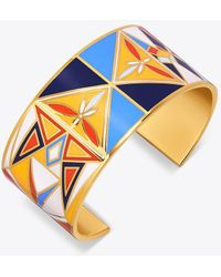 Tory Burch - Kaleidoscope Enamelled Wide Cuff - Lyst