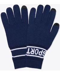 Tory Sport - Tory Burch Merino Banner Tech Gloves - Lyst