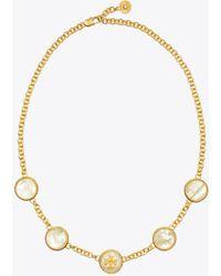 Tory Burch - Semiprecious Multi Necklace - Lyst