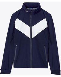 Tory Sport - All-weather Run Hooded Paneled Shell Jacket - Lyst