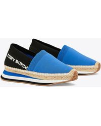 Tory Burch - Daisy Stretch-knit Espadrille Sneakers - Lyst