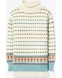 Tory Burch - Floral Jacquard Sweater - Lyst