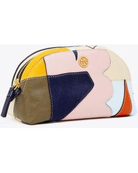 Tory Burch - Robinson Mixed-materials Cosmetic Case - Lyst
