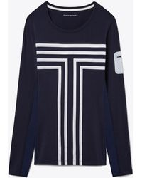 Tory Sport - Performance Graphic Top   047   Sport Performance Tops - Lyst