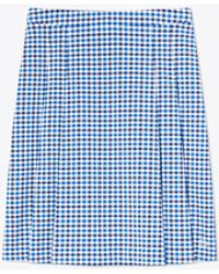 Tory Sport Tech Stretch Twill Gingham Skirt