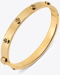 Tory Burch | Logo Stud Hinge Bracelet | Lyst