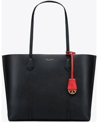 Tory Burch - Perry Triple Black Leather Tote Bag - Lyst