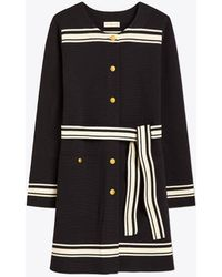 Tory Burch - Striped Coat - Lyst