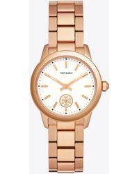 Tory Burch - Collins Stainless Steel Bracelet Watch - Lyst