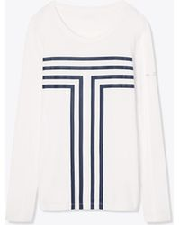 Tory Sport - Long-sleeve Performance Graphic Top - Lyst