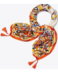 Tory Burch - Kaleidoscope Square Scarf - Lyst