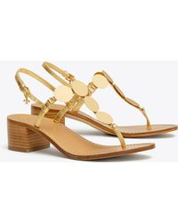 3ef96dafd Tory Burch Patent Leather Cecile Block Heel Ankle Strap Sandals in ...
